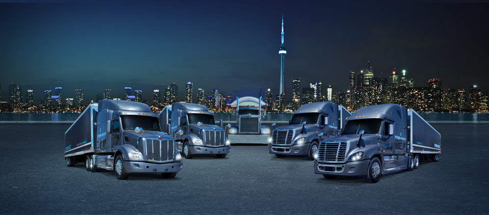 Forbes-Hewlett Transport fleet of trucks Toronto/Chicago