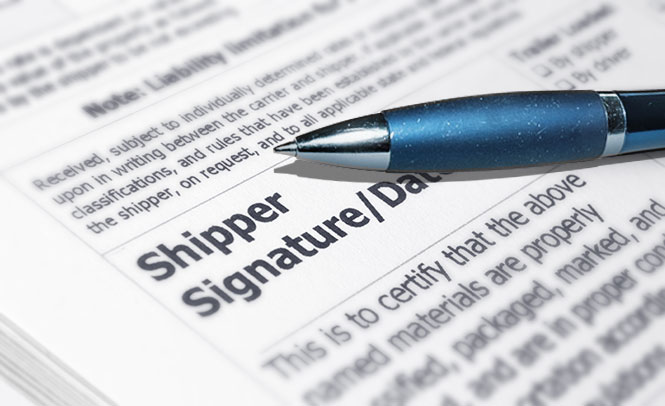 Freight shipping forms